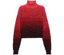 high neck ombré knitted jumper