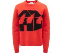 Pullover mit brennendem Haus
