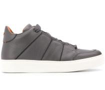 Sneakers aus gekörntem Leder
