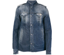 washed-effect denim jacket