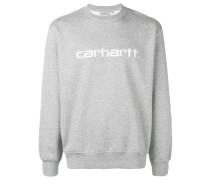 Meliertes Sweatshirt mit Logo-Stickerei