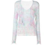 Pullover mit Farbklecks-Print