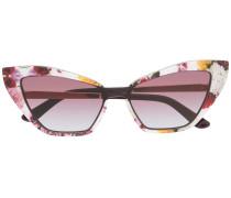 Cat-Eye-Sonnenbrille mit Print
