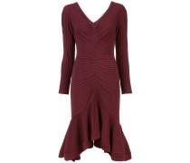 Geripptes Kleid mit langen Ärmeln