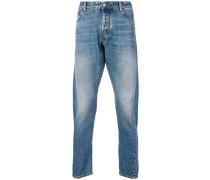 Jeans mit Flügel-Print