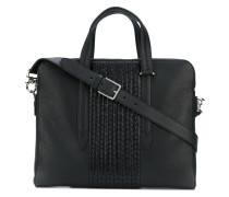 woven effect laptop bag