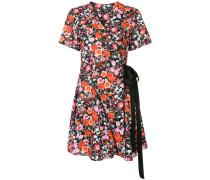 floral mini wrap dress
