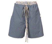 Cannone faux layered check shorts