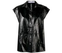 sleeveless shirt jacket