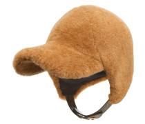 Shearling-Mütze mit Schirm