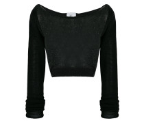Klassischer Cropped-Pullover