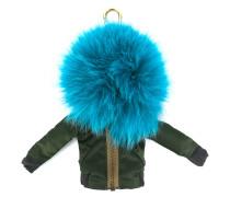 pom-pom bomber jacket keyring