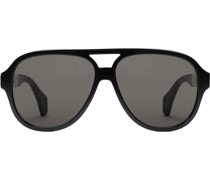 Pilotenbrille mit Logo-Streifen