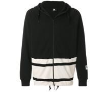 colour block zip hoodie