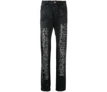 Gerade Jeans mit Pailletten