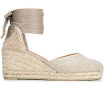 Carina lace-up espadrille wedges