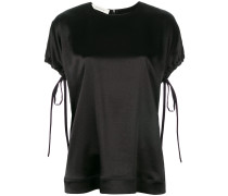 lace-up sleeves T-shirt