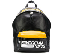 logo colour-block backpack