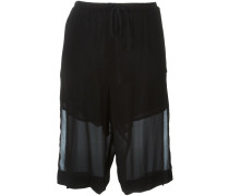 Knielange Shorts im Lagen-Look