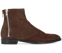 Brown Suede triple zip Chelsea boots