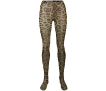 Strumpfhose mit Leopardenmuster