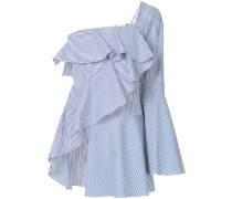 one-shoulder striped blouse