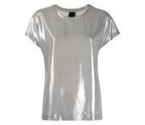 T-Shirt in Metallic-Optik