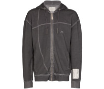 A-Cold-Wall* trim detail zipped cotton hoodie
