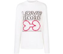 'Love Records' Rollkragenpullover