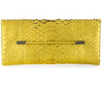 snakeskin effect clutch