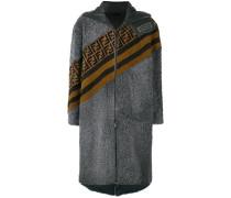 logo stripe coat