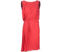 Plissiertes Kleid mit Raffung