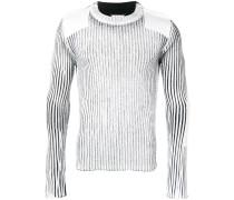 Gerippter Pullover mit Schulterklappen