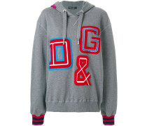 Kapuzenpullover mit Logo-Patches