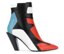 colour block ankle boots