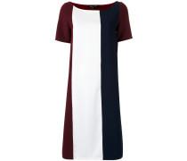 Kleid mit Kontrasteinsätzen