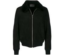 Shearling-Jacke mit Reißverschluss