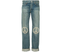 pearl peace symbol jeans