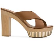 crossover strap platform sandals