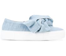 Jeans-Sneakers mit Schleife