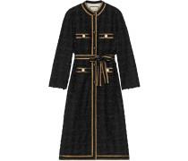 Tweed-Mantel mit verziertem Saum