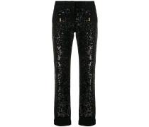 sequin-embellished jeans