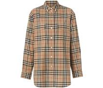 Oversized-Hemd mit Vintage-Check
