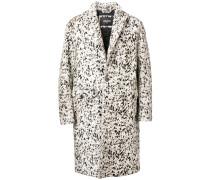 Einreihiger Mantel mit Print