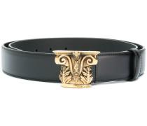 sculpted buckle belt
