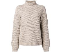 diamond knit jumper