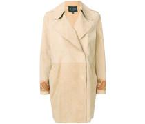 Doppelreihiger Mantel mit Paisley-Print