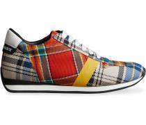 Sneakers mit Schottenkaromuster