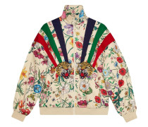 Jersey-Jacke mit Patches