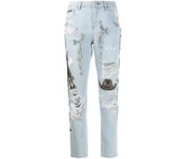 Verzierte 'Boyfriend Cowboy' Jeans